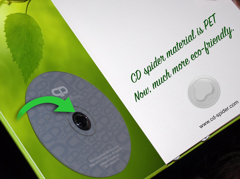 cd spider plastic holder button