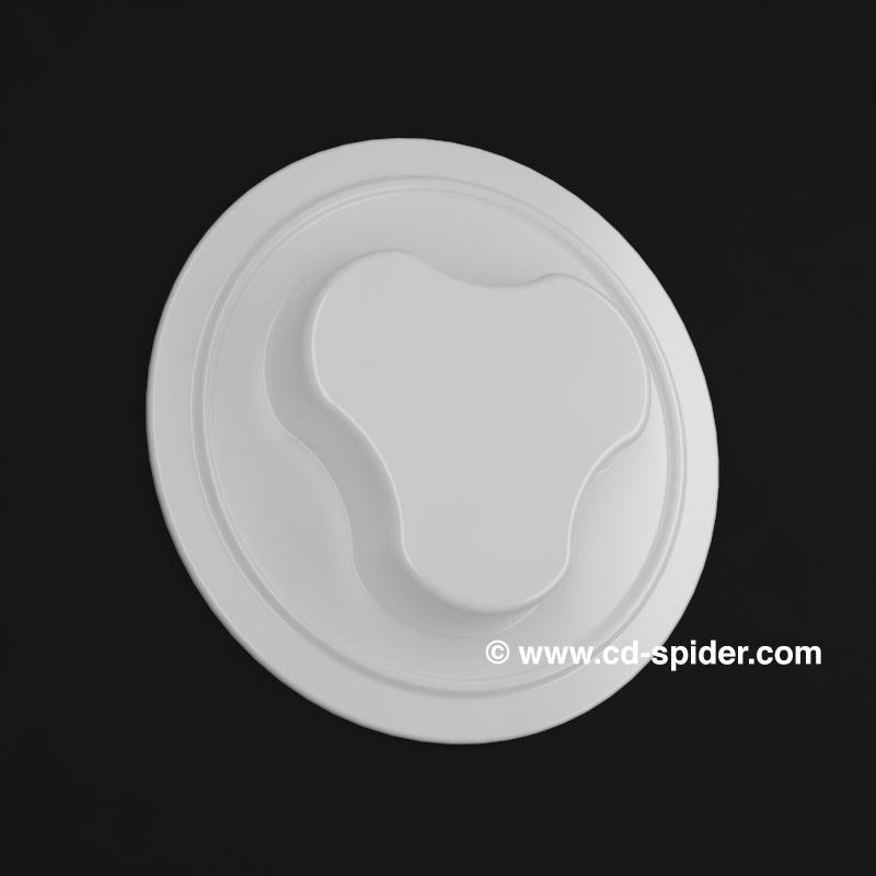 cd spider plastic white, dvd button